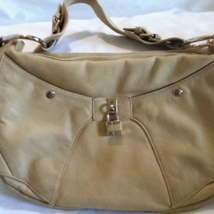 3732837eaaf7 Abbacino beige tan leather purse handbag